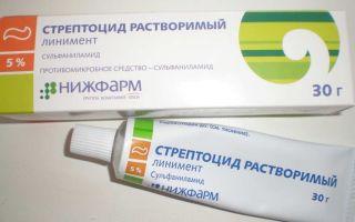 Стрептоцид при лечении геморроя