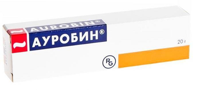 упаковка мази ауробин