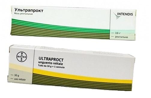 Упаковка мази Ультрапрокт